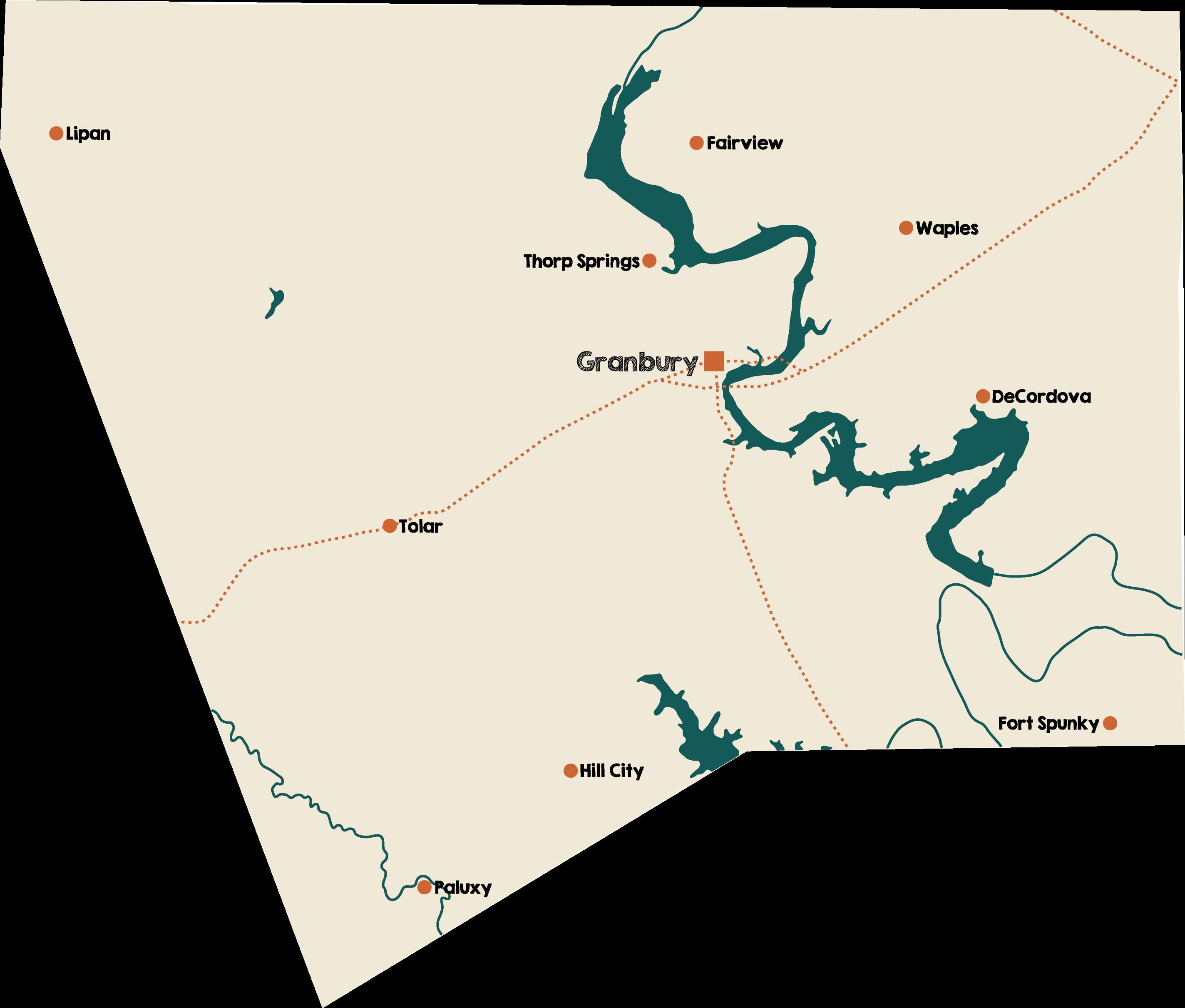 Map of Hood County